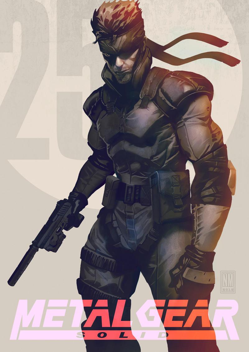 Solid Snake by panelgutter