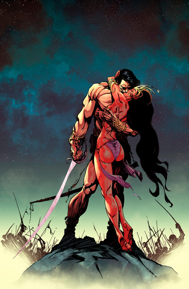 John Carter : Warlord Of Mars # 5 Variant cover by panelgutter