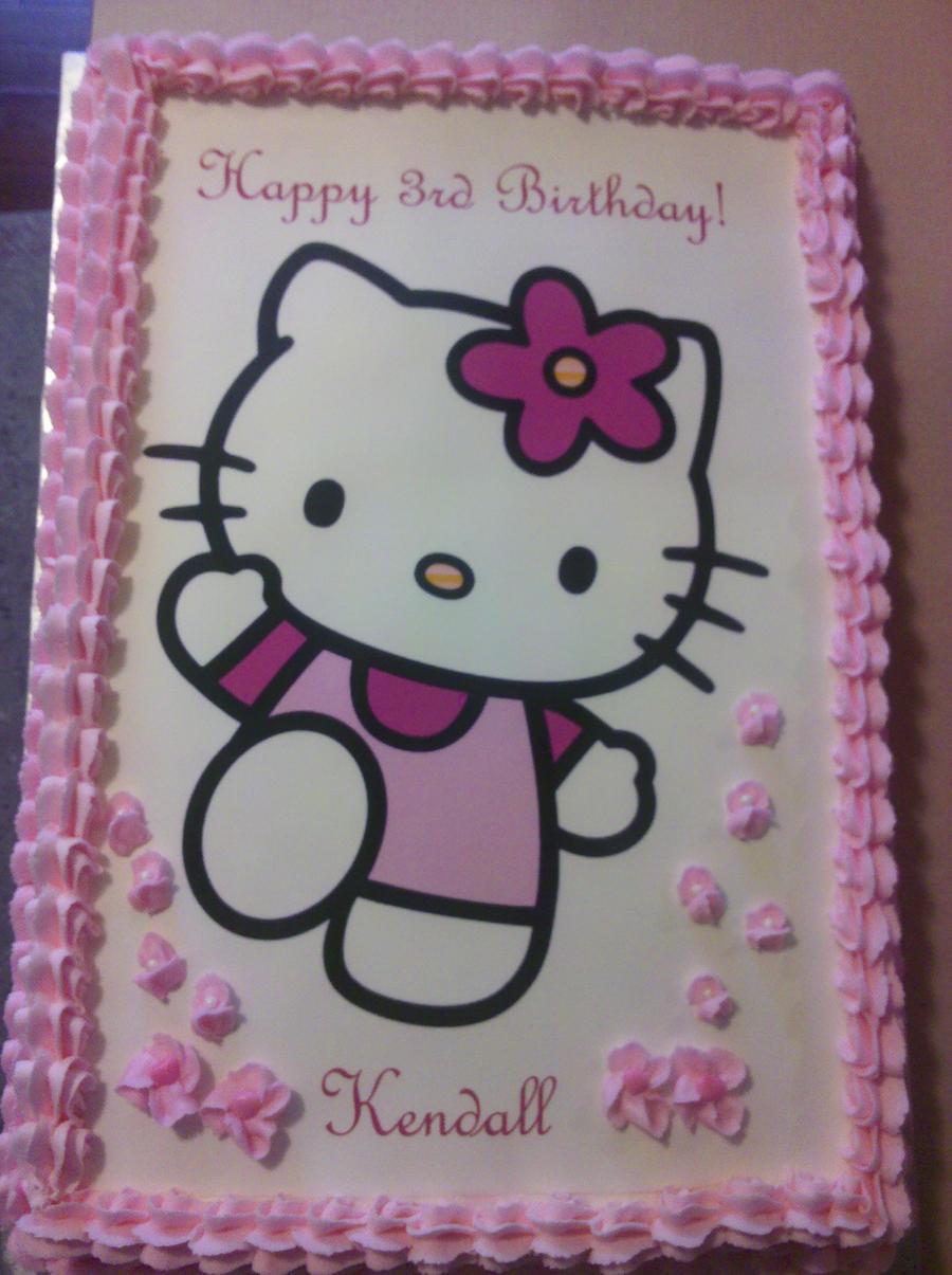 Happy Birthday Kendall Hello Kitty Cake By