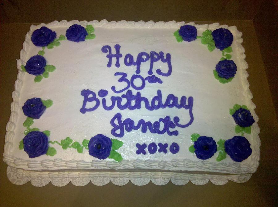 Happy 30th Birthday Janet By Missblissbakery On Deviantart
