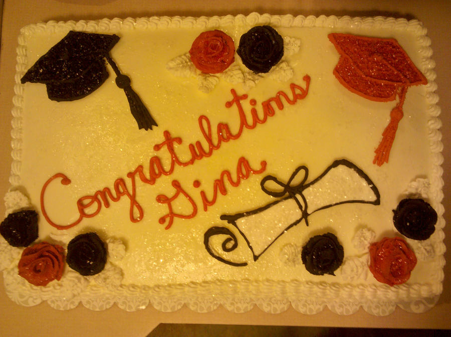 Graduation Cake Congratulations Gina By Missblissbakery On