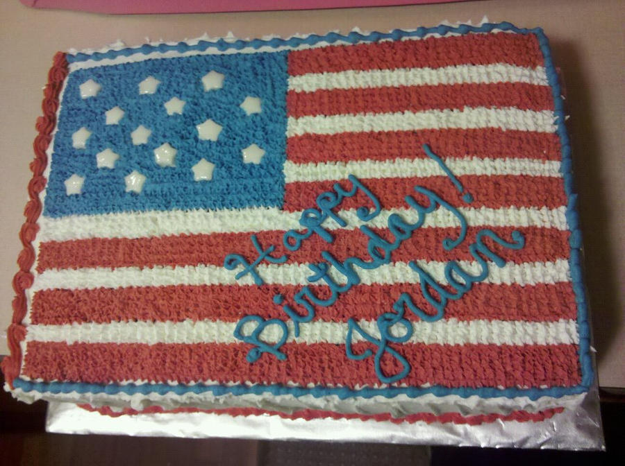 American Flag Birthday Cake By Missblissbakery On Deviantart