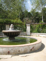 Mission fountain by BlackVulmea