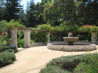 Mission fountain again by BlackVulmea