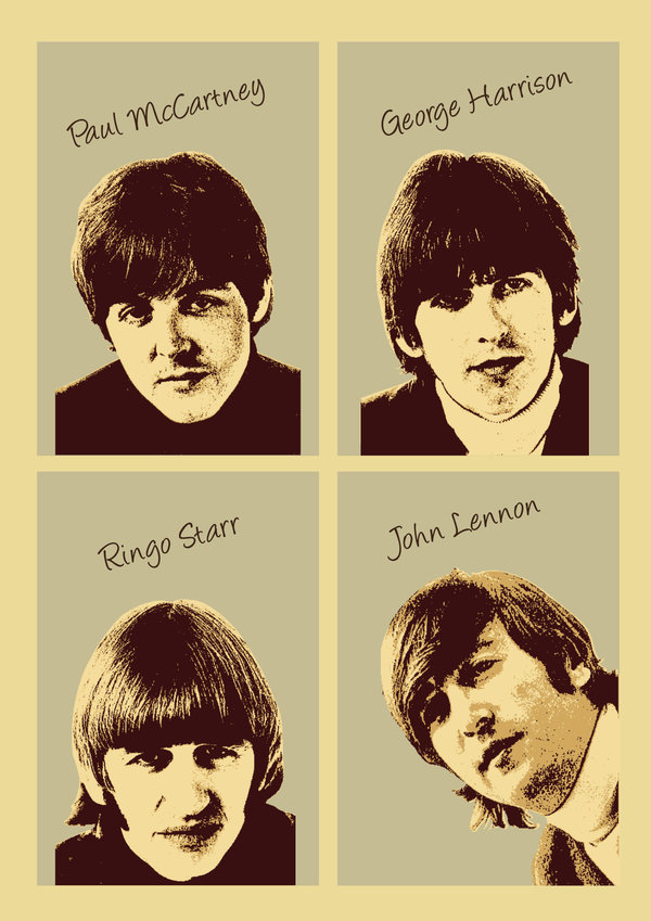 The Beatles by johnthorndayle