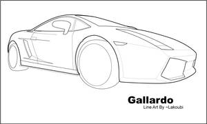 Gallardo Line Art by lakoubi