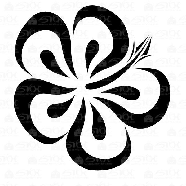 tribal hawaii flower by sntxdesign on deviantart. Black Bedroom Furniture Sets. Home Design Ideas
