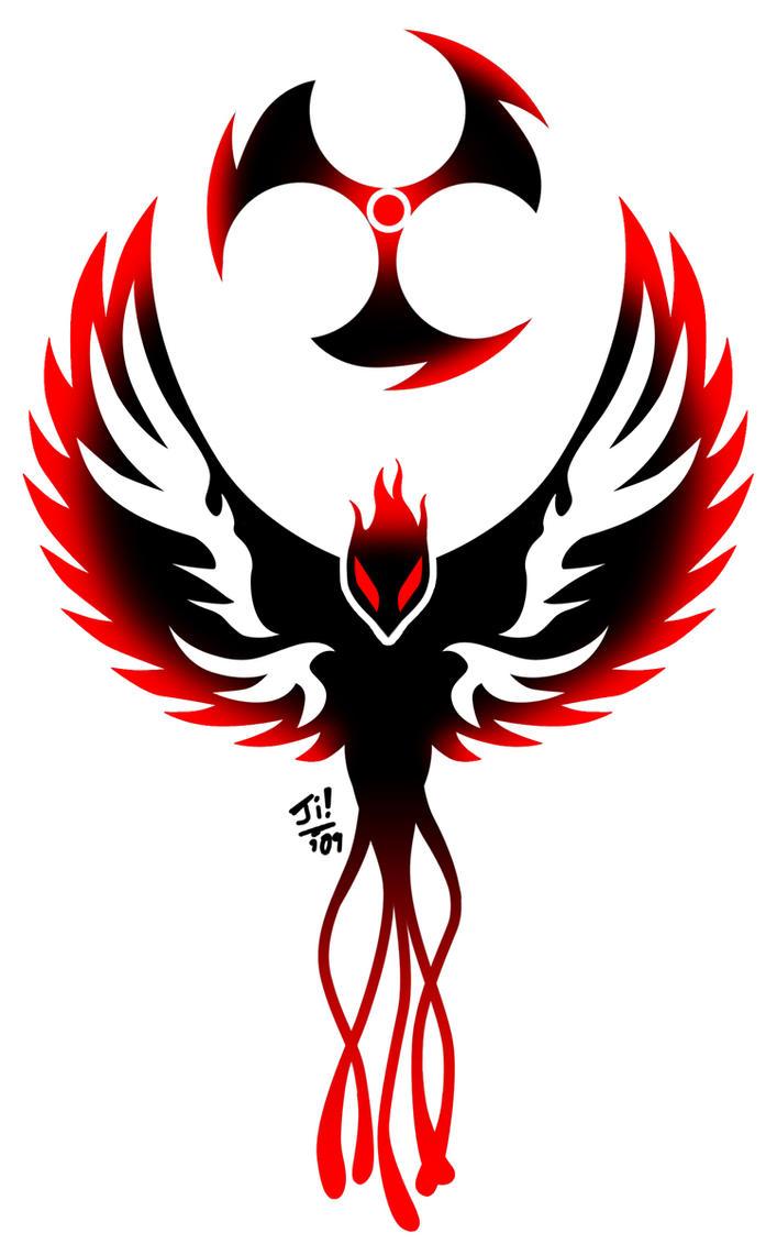 Dark Phoenix Logo Dark Phoenix Tattoo by UncleJi