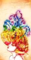 Watercolour Cosmos