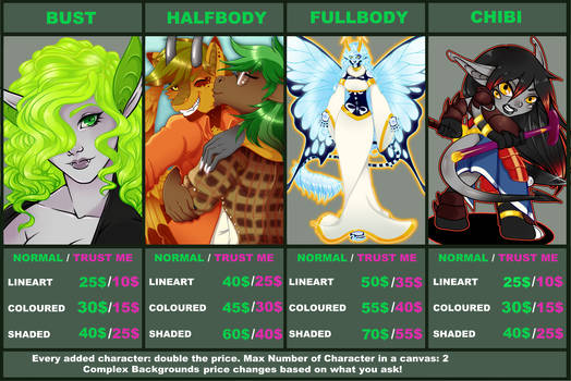 Commission Chart 2020 - COMMISSIONS OPEN