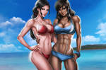 Korra and Asami (Beachtime!)