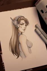 D.va (traditional drawing) by dandonfuga