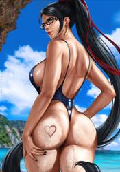 Beachqueen Bayonetta by dandonfuga