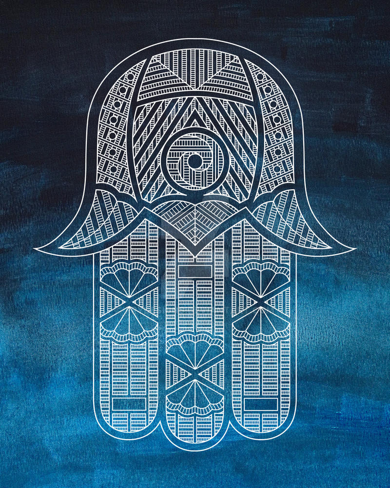 Blue Hamsa by frydesigns