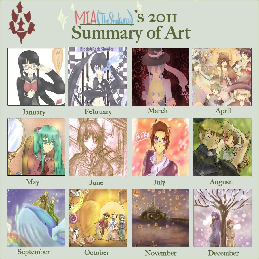 Mia's art Summary 2011 by TheShakunai