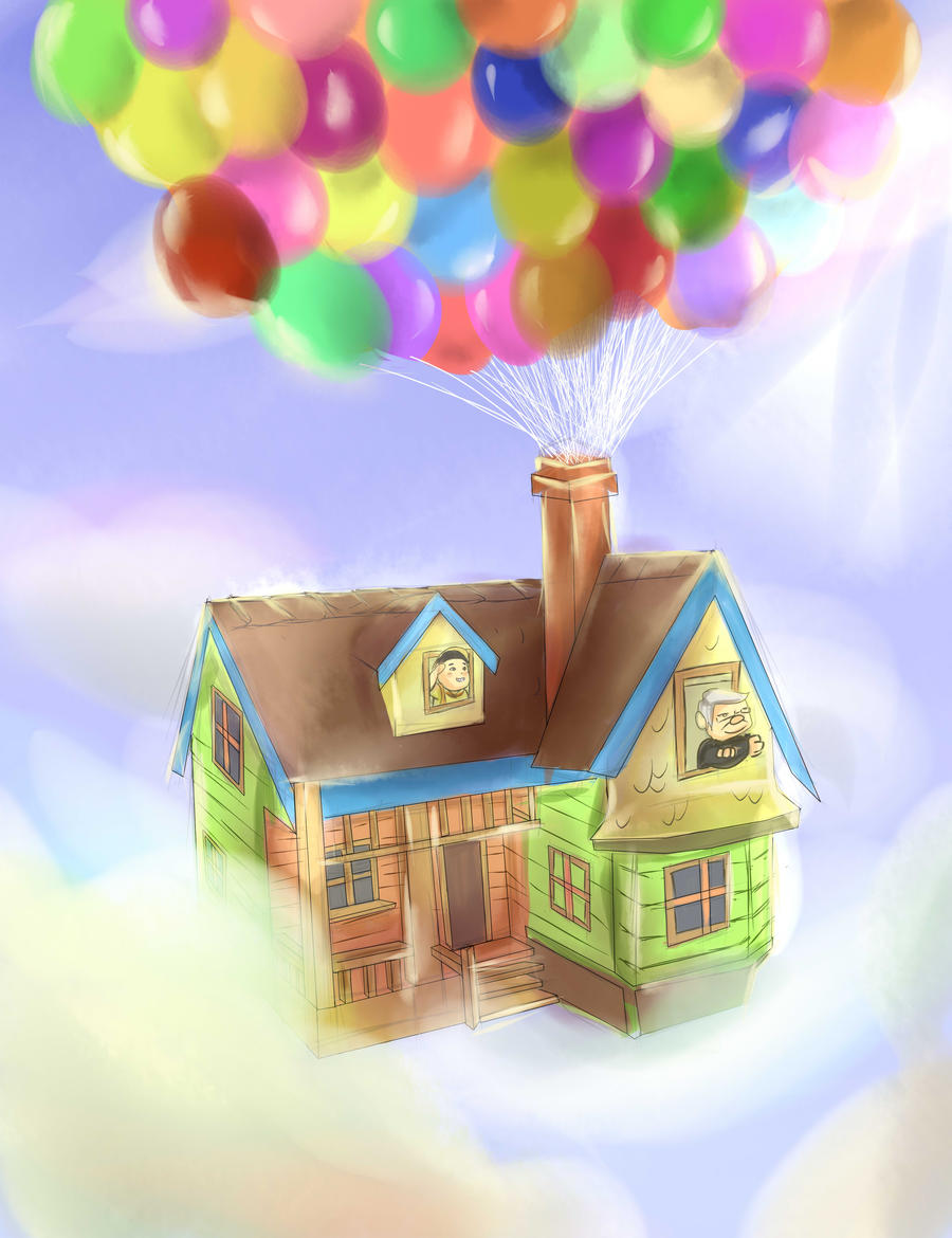 up Movie Drawings Up House Pixar Drawing