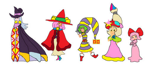 Kirby Kirls: Creative Witches by sydneypie