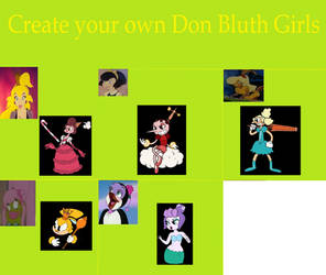 Cuphead Girls + Don Bluth