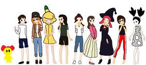 Animated Short Girls Set 131