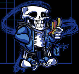 UNDERTALE - Sans by DISTORTEDMACHINE