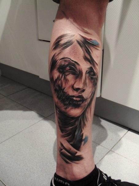 336af15b9d92d woman face tattoo by tattooastur on DeviantArt