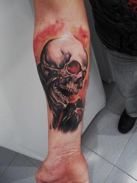 ghost rider tattoo by tattooastur on deviantart. Black Bedroom Furniture Sets. Home Design Ideas