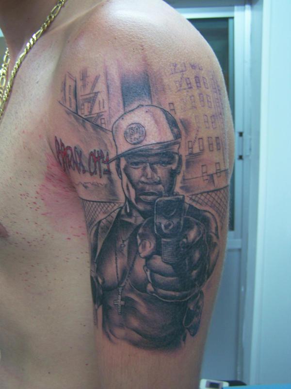 50 cent tattoo by tattooastur on DeviantArt