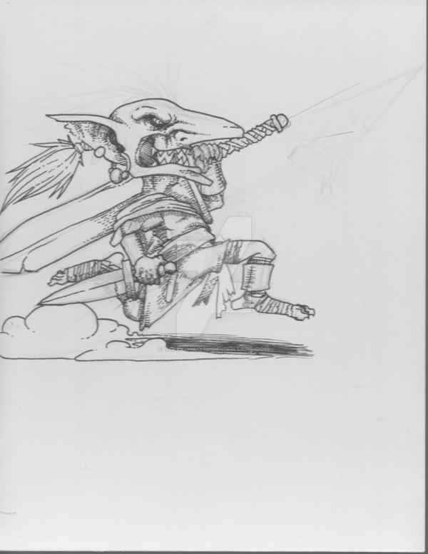 Charging Goblin by TePeYoLlOtL