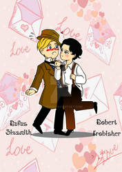Robert Frobisher and Rufus Sixsmith chibi version