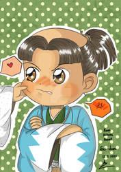 [Kaze Hikaru fanart] Your cheek is so soft