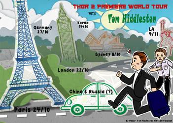 Thor 2 World Premiere Tour with Tom Hiddleston