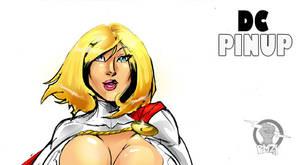 DC pinup: Power Girl teaser