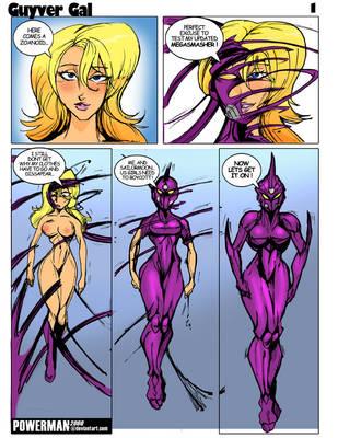Guyver Gal BE Comic1 by powerman2000