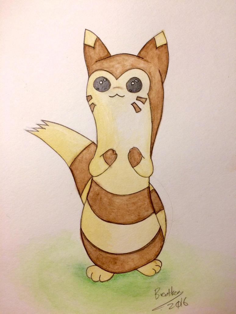 Furret - Watercolor by brentken