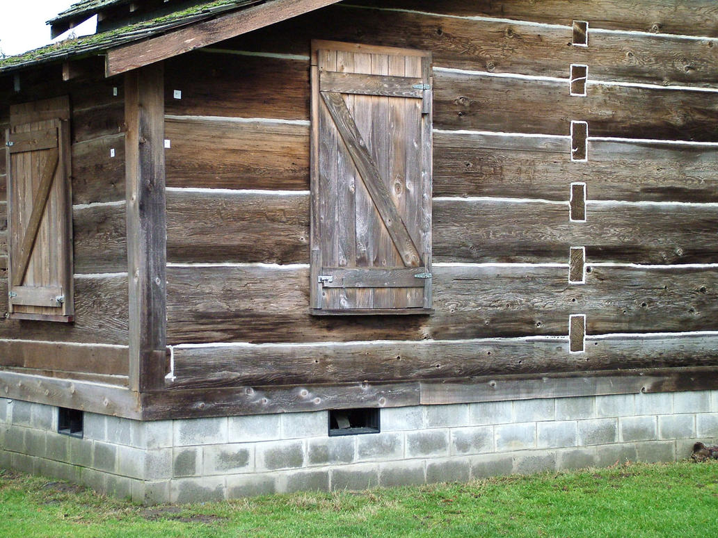 Old log house corner by jensstockcollection on deviantart for Classic house 2004