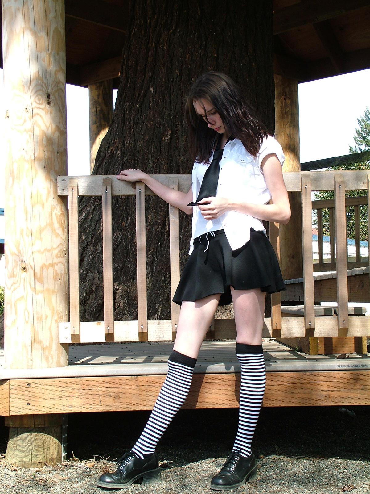 sunny schoolgirl 1 by JensStockCollection