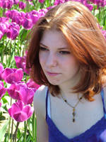 Miss B in the tulips 3 by JensStockCollection