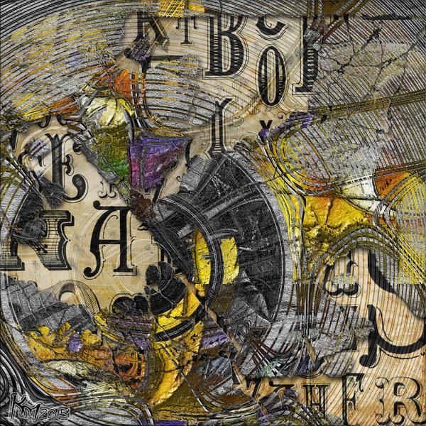 AB2015-199 Vintage Abstract by Xantipa2