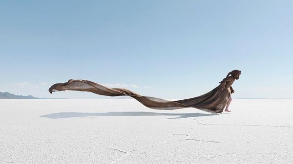 Desert Woman Salt Flats by dania-pena