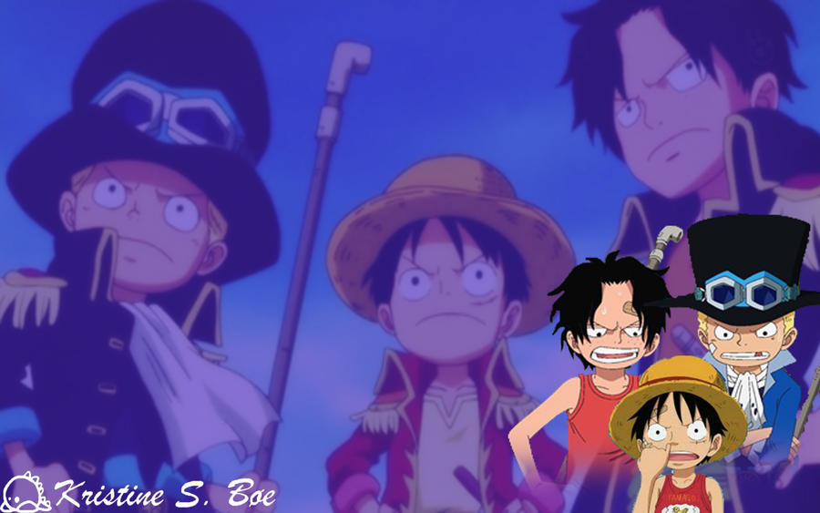 Sabo X Luffy Ace By OnePieceSrinex3