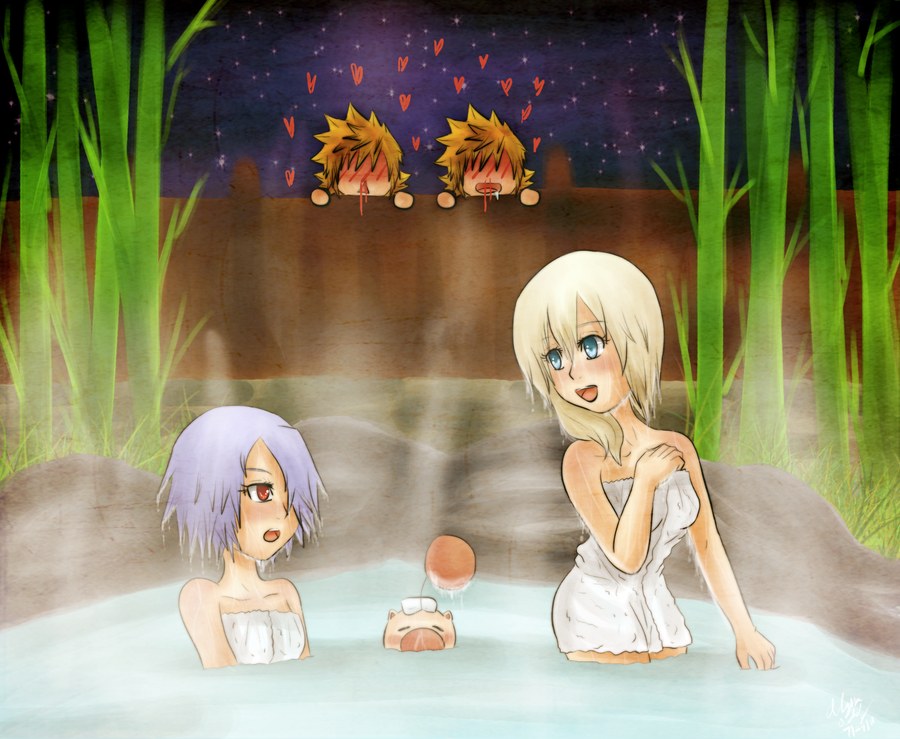 OTPs:Hot Spring by Kiome-Yasha
