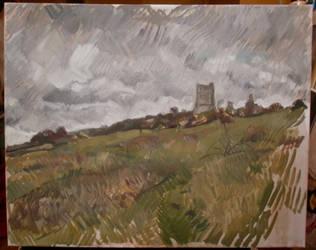 hadleigh castle sketch by benlovesit123