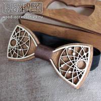 Wooden bow tie Dream by v-vasilinka