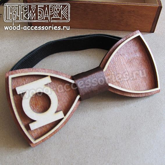 Wood bow tie Green Lantern by v-vasilinka