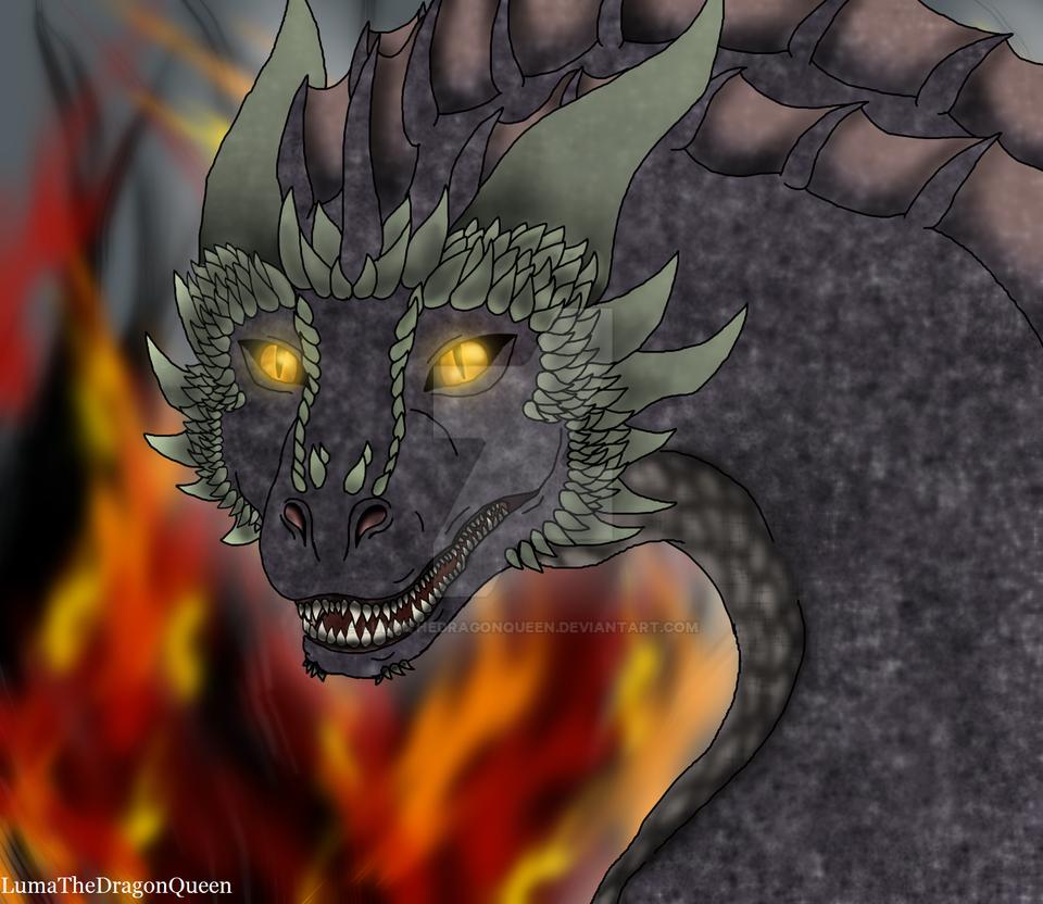 My GoTC Dragon - Aegarax - Drawn version by LumaTheDragonQueen