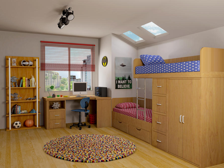 Kids Room by HaryHerbert