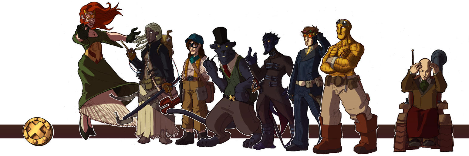 Steampunk X-Men - colors by OttoArantes