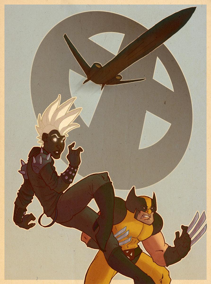 Ororo and Logan by OttoArantes