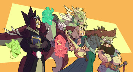Another adventurers party. by OttoArantes