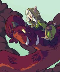 Dragonrider by OttoArantes